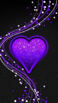 Purple Love, All Things Purple, Purple Rain, Purple Wallpaper, Butterfly Wallpaper, Love Wallpaper, Heart Iphone Wallpaper, Cellphone Wallpaper, Beautiful Heart Images