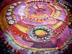 Pink  Orange recycled circles by janelafazio, via Flickr