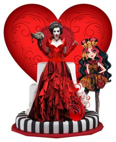 """""""Queen of Hearts doll"""" by candi-apple ❤ liked on Polyvore featuring art, doll, heart and queen"""