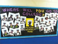 college bulletin board ideas...and I have multiple hats! Hello education go get it week!