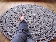 chunky crochet mega doily rug