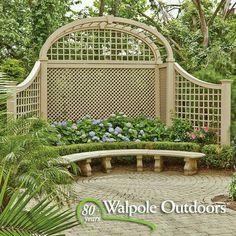 What Is Pergola Roofing Garden Trellis, Garden Gates, Outdoor Rooms, Outdoor Gardens, Landscape Design, Garden Design, Walpole Outdoors, Garden Tool Shed, Lattice Fence