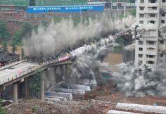 Demolición controlada en China
