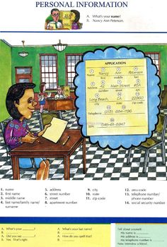 1 - PERSONAL INFORMATION - Pictures dictionary - English Study