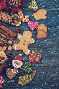 Gingerbreads for new years and christmas by olinchuk