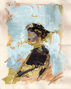 "John Wentz - ""Imprint No. 21"" - oil on Moleskine sketch book - 11"" x 8.25"" (2015)"