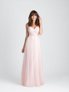 Style: 1505. Gorgeous tulle needs no other embellishment than a softly ruched sweetheart bodice.