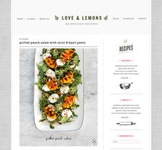 """I'm pinning this because a grilled peach salad sounds amazing... but also because this blog is called """"Love and Lemons."""""""