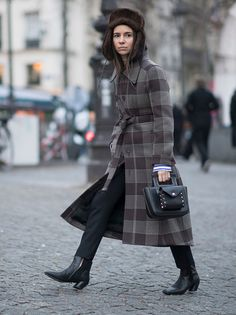 Natasha Goldenberg seen in the streets of Paris before the Vetements Fashion Show during Haute Couture Fashion Week on January 24 2017 in Paris France