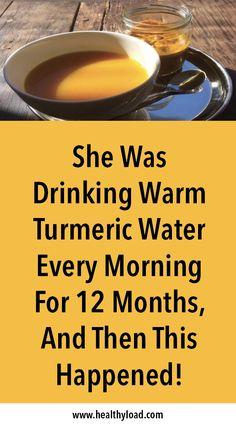 She Was Drinking Warm Turmeric Water Every Morning For 12 Months, And Then This Happened! - Health Care & Fitness Tips Turmeric Drink, Turmeric Water, Turmeric Recipes, Tumeric Shots, Turmeric Smoothie, Turmeric Health Benefits, Tumeric Water Benefits, Natural Kitchen, Natural Health Remedies