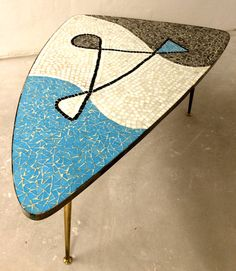 1950's Awesome Atomic Mosaic Coffe Table on Etsy, $500.00