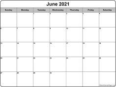 June 2021 calendar | free printable calendar templates Blank Monthly Calendar Template, Free Printable Calendar Templates, Printable Blank Calendar, Monthly Calendars, Printables, Monthly Planner, Free Calendars To Print, Print Calendar, 2021 Calendar