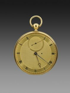 Abraham-Louis Breguet (1747–1823) / Antoine-Louis Breguet (1776–1858) / Gold Pocket Watch with Tourbillon / Paris, c. 1820 / gold, gilt-brass, and steel