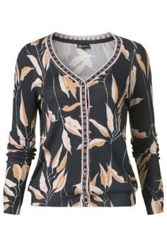 Nudes | Collection | Cardigan | Print | Leaves |  Musthave