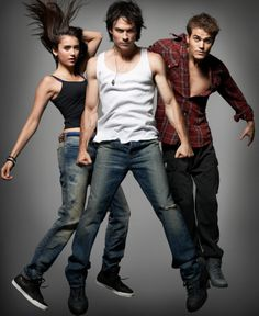 Paul Wesley, Ian Somerhalder, and Nina Dobrev #VampireDiaries