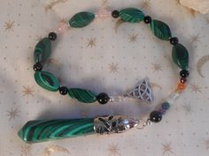 Malachite Chakra Healing/Divination Pendulum by Ravenbirch on Etsy, $25.00