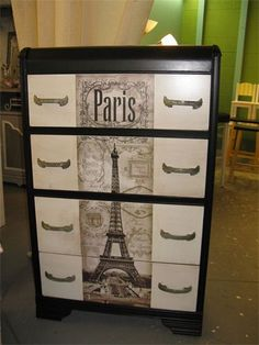Waterfall dresser, Parisian way