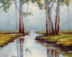 Red River Gums Australia by artsaus.deviantart.com on @deviantART