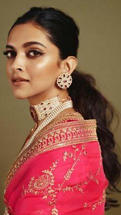 Deepika Padukone in Sabyasachi Pink Organza Saree Indian Celebrities, Bollywood Celebrities, Bollywood Fashion, Bollywood Actress, Bollywood Jewelry, Bollywood Stars, Deepika Padukone Style, Organza Saree, Ritu Kumar