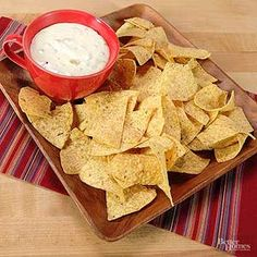 Skip the restaurant! Make this creamy queso dip at home -- no reservations needed.  /