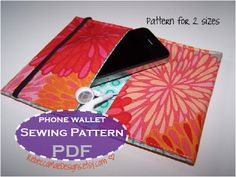 iPod or Phone Wallet / Case - diy sewing pattern by RebeccaMaeDesigns
