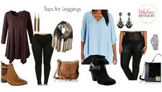 No matter what your size, leggings are one of the most comfortable things to wear, but knowing what to pair them with can make all the difference in how your outfit looks. Here are three trendyplus size tops that complement leggings and elevate them from average to awesome. Tunic   Leggings   Scarf   Booties...