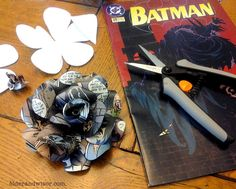 A Batman Boutonniere {comic book flowers go to prom} |older and wisor