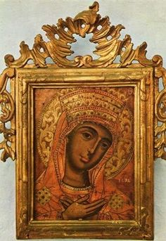 The Mother of God with a gentle smile.