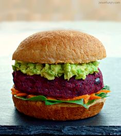 Your new favorite veggie patties: my Vegan Grain-Free Beet Burgers! They are loaded with nutrition, oil-free, gluten-free, and absolutely scrumptious! Meatless Burgers, Vegan Burgers, Mini Burgers, Turkey Burgers, Veggie Food, Veggie Dishes, Gourmet Recipes, Vegetarian Recipes, Veggies