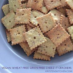 """""""Cheez-It"""" (vegan, wheat free, grain free)"""