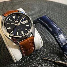 Seiko snxs77 croco leather