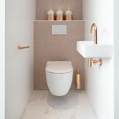 Small Downstairs Toilet, Small Toilet Room, Small Bathroom Layout, Downstairs Bathroom, Bad Inspiration, Bathroom Inspiration, Bathroom Ideas, Bathroom Trends, Garden Inspiration