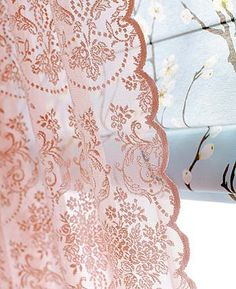 Lovely lace curtain. Fabric from Stoff und Stil