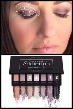 Addiction palette 3 looks from Younique