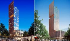 Bouygues set to begin triple cantilevered Stratford Tower with 3 cut in roof gardens.