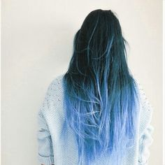 This ombre effect could be achieved with #BadBoyBlue.