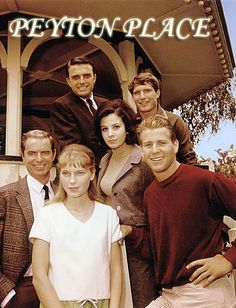 """Some of the actors who appeared in the """"Peyton Place"""" TV series, including at center, Barbra Perkin, Mia Farrow in white, and Ryan O'Neal Easy Listening, Peyton Place, Vintage Television, Old Shows, Vintage Tv, Classic Tv, The Good Old Days, Best Tv, Childhood Memories"""