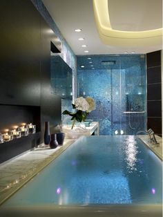 Looking for your Dream Bathroom Design? See our full photo gallery of Top 20 Luxurious Dream Bathrooms Design Ideas for your bathroom makeover. Romantic Bathrooms, Dream Bathrooms, Beautiful Bathrooms, Master Bathrooms, Luxury Bathrooms, Contemporary Bathrooms, Modern Contemporary, Modern Retro, Modern Luxury