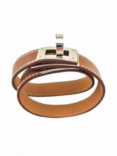 Natural Barenia Leather Kelly Turn Lock Bracelet. Get the lowest price on Natural Barenia Leather Kelly Turn Lock Bracelet and other fabulous designer clothing and accessories! Shop Tradesy now