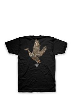 Hybrid™ Men's Big And Tall Mallard Camo Tee Shirt - Black - Xxxlong Or Xxxtall Or Xxxlarge Long Or Tall Or Large