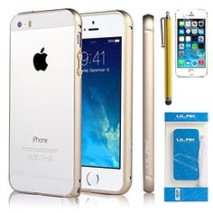 iPhone 5S Case, iPhone 5 Case, ULAK bumper Case for Apple iPhone 5S 5 5G Luxury Fashion Metallic frame Cover Slim Fit Case with Screen Protector and Stylus (Champagne) ULAK http://www.amazon.com/dp/B00QQ3TZ5Q/ref=cm_sw_r_pi_dp_1xU7ub14F3BMS