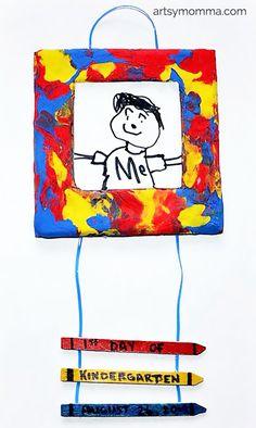 1st Day of Kindergarten Picture Frame Craft