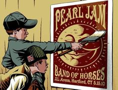 .Pearl Jam/ Band of Horses concert poster