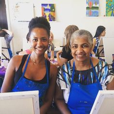 #SundayFunday #painting & #wine drinking at @paintandsipstudiola with #mom #la #losangeles #art #paint #color #draw #artsandcrafts #momdate #momma #mommy #artsy #dating #date
