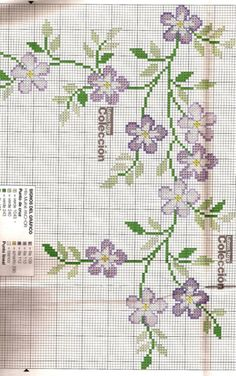 Discover thousands of images about Point de Croix : Grille Fleur dans Fleurs 080129041403178861658040 Would be pretty done with waste fabric onto napkins Cross Stitch Heart, Cross Stitch Borders, Cross Stitch Alphabet, Cross Stitch Flowers, Cross Stitch Designs, Cross Stitching, Cross Stitch Embroidery, Embroidery Patterns, Cross Stitch Patterns