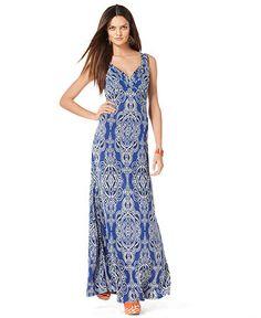 pretty print maxi dress
