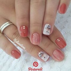 16 Stunning Nail Art Trend Ideas for - Nageldesign - Nail Art - Nagellack - Nail Polish - Nailart - Nails - Fall Gel Nails, Spring Nails, Toe Nails, Summer Nails, Autumn Nails, Coffin Nails, Nail Designs Spring, Gel Nail Designs, Nails Design