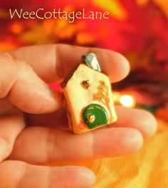 Sweet Fall Mini House, Mini House, Tiny House, Ceramic House, Mini Cottage, Miniature Cottage, Wee Cottage Lane, Tiny Home, Miniature Home