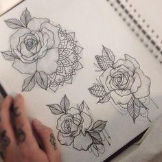 Rose Tattoo Designs by Medusa Lou Tattoo Artist - medusaloux@outlook.com