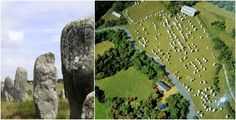 There is a collection of more than 3,000 opaque stones around the village of Carnac in France, the largest of its kind ever discovered in the world.  It is assumed that some of the stones were erected in around 3300 BC by the pre-Celtic people, who continued to add more until the 4500 BC. Their reasons for doing so remain unknown.